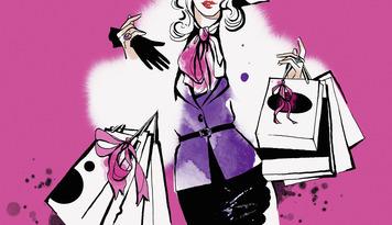 Portrait of elegant woman carrying shopping bags --- Image by © Susan Hassmann/Ikon Images/Corbis