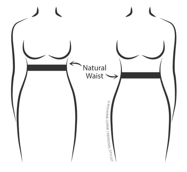 Where is my natural waist? That's a question most women don't know the answer to. Read this article to discover where your natural waist is! - Roxanne Carne | Personal Stylist