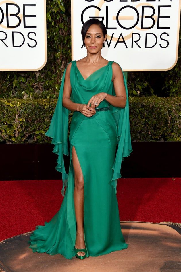 BEVERLY HILLS, CA - JANUARY 10:  Actress Jada Pinkett Smith attends the 73rd Annual Golden Globe Awards held at the Beverly Hilton Hotel on January 10, 2016 in Beverly Hills, California.  (Photo by Jason Merritt/Getty Images)