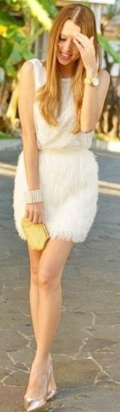 Feathery+Dress