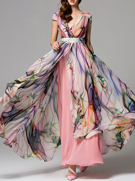 HZY+Chiffon+Dress