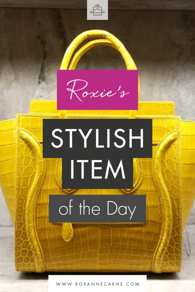 Arrive in style with this gorgeous Celine croc print luggage tote! - Roxanne Carne | Personal Stylist