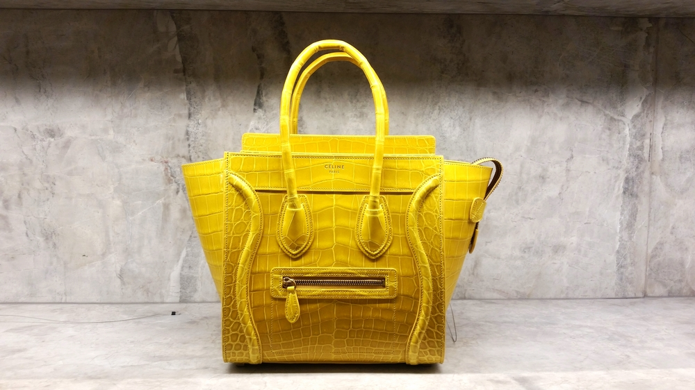 Celine Micro Luggage Purse – Crocodile & Lambskin