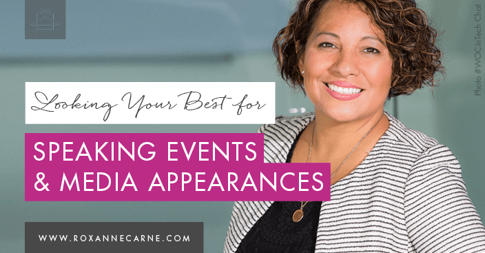 Learn top tips on looking your best for speaking events & media appearances! - Roxanne Carne | Personal Stylist