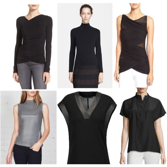 Classic Sophisticated Black & Gray Tops  - www.roxannecarne.com
