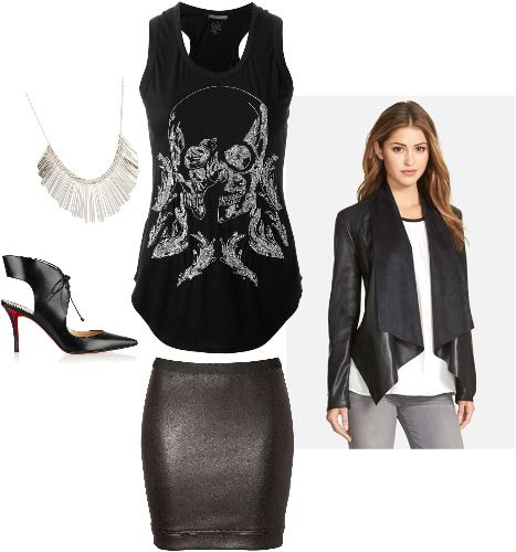 Rocker Chic Look - www.roxannecarne.com