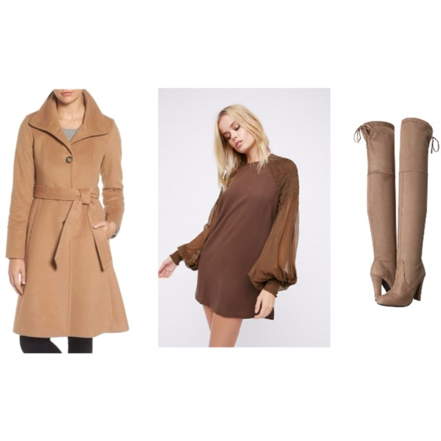 Camel Coat Look 1 - www.roxannecarne.com