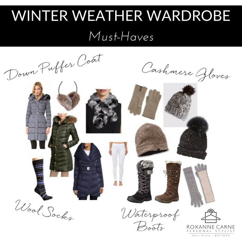 Winter Weather Wardrobe Essentials - Roxanne Carne