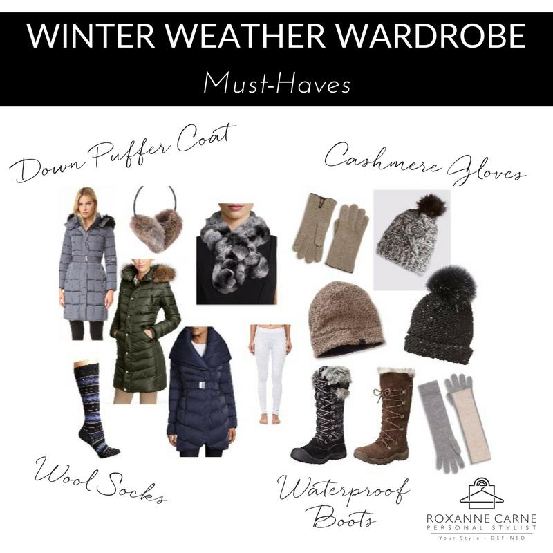 Winter Weather Wardrobe Essentials - Roxanne Carne