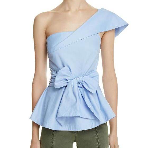 Blue One Shoulder Top - www.roxannecarne.com