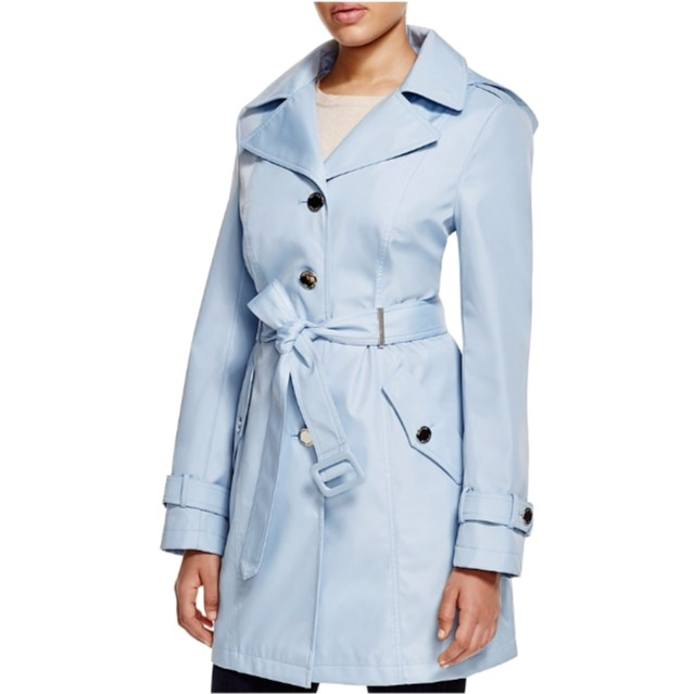 Calvin Klein Powder Blue Trench - www.roxannecarne.com
