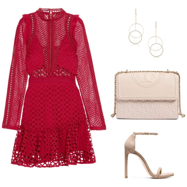 Red Lace Mini Dress  - www.roxannecarne.com