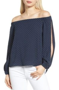 Spring Fashion - Bailey 44 Off-the-Shoulder Top - Nordstrom - www.roxannecarne.com