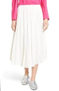 Spring Fashion - Vince Camuto Pleated Midi Skirt - Nordstrom - www.roxannecarne.com