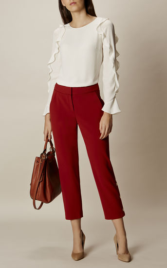 Karen Millen - Ruffle Classic Top - Buy Now! - Roxanne Carne | Personal Stylist