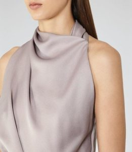 Check out this stunning chic halter neck day dress from Reiss. Great for weddings, day parties, and evening soirees! - Roxanne Carne | Personal Stylist
