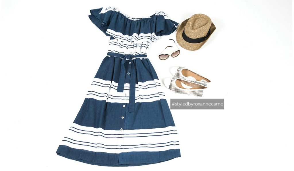 The Striped Summer Dress Look - Styled by Roxanne Carne | Personal Stylist for REVEAL Magazine
