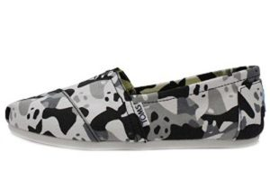 Buy Toms Panda Camo Shoes to help support WildAid and the giant panda!