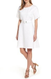 This crisp white Boss linen dress is perfect to wear to the office in the summer months.! ~ Roxanne Carne | Personal Stylist
