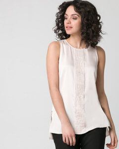 Sleeveless blouses like this one from Le Chateau, are typically okay to wear in the office especially during the summer! ~ Roxanne Carne | Personal Stylist