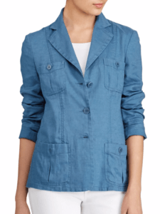 Stay cool in the office with this cute summer linen jacket from Ralph Lauren. It's perfect for casual summer corporate attire! ~ Roxanne Carne | Personal Stylist