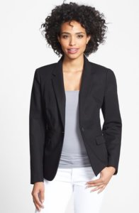 Vince Camuto's cotton blazer is a wardrobe staple for work summer attire. Add one to your closet today! ~ Roxanne Carne | Personal Stylist