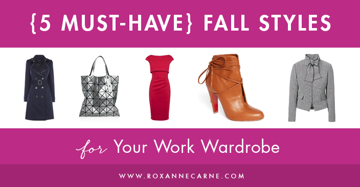 Want to know what to wear to work this fall season? Fall 2017 women's fashion trends hint strongly at bold, powerful looks for the office. Here are some of my top picks for hot workwear this fall season! ~Roxanne Carne | Personal Stylist