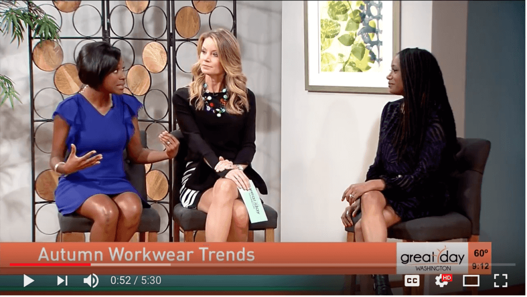 Check out Roxanne Carne, Personal Stylist on ABC7's Good Morning Washington sharing the scoop on how women can rock Fall 2017 workwear trends!